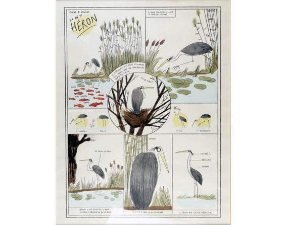 """Image """"La Vie du Héron"""" par Zoé Thouron"""