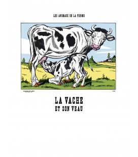 """Image """"La vache et son veau"""""""