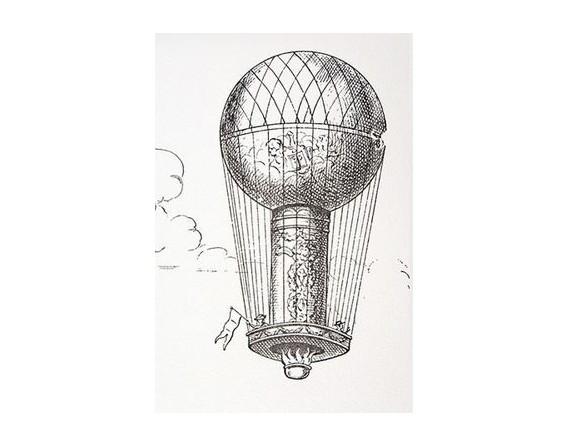 """""""Les Ballons"""" en noir et blanc - encadré"""