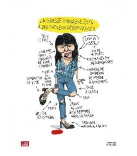 """Affiche """"La grosse connasse 2014 a des cheveux dégueulasses"""