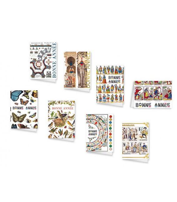 Lot de 8 cartes de voeux