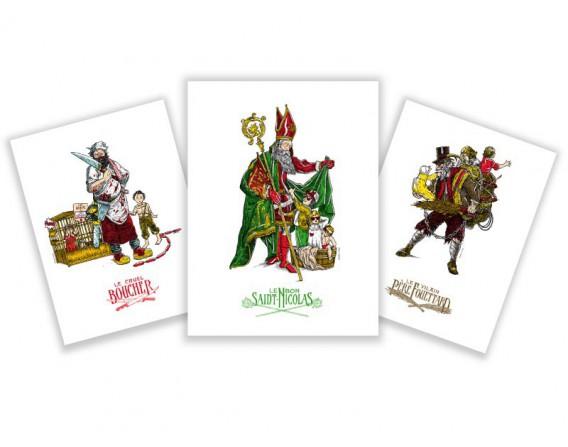 lot de 3 images série Saint-Nicolas Fortifem