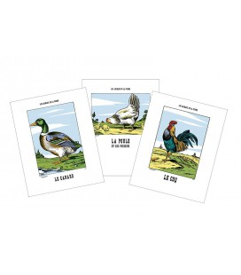 "lot de 3 Images ""Animaux de la ferme"""
