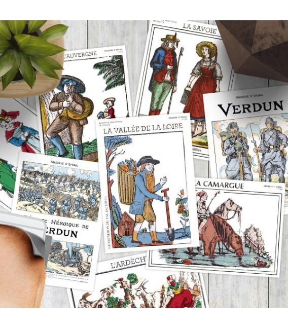 Lot de 10 cartes postales Région