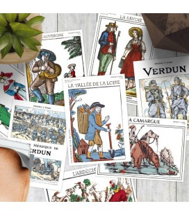 10 cartes postales « Régions & traditions de France »