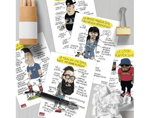 Lot de 10 cartes postales « Look Book Salch»