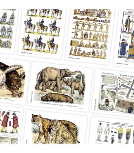 """Sélection de 6 cartes postales thèmes """"vintage"""""""