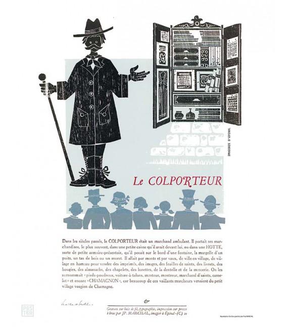 """Affiche """"Le colporteur"""" par Jean-Paul Marchal"""