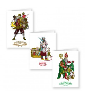 "Lot de 3 cartes doubles série ""Saint-Nicolas"""