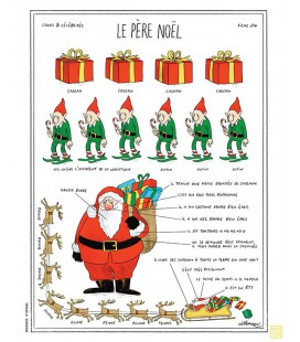 """Affiche """"Le Père Noël"""""""