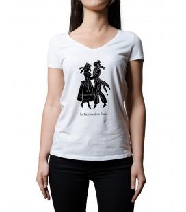 """Tee-shirt femme """"carnaval de Paris"""" taille L"""