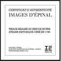 """Lithographie """"Péril Conjuré"""" Noir et blanc encadrée / Série Marine"""