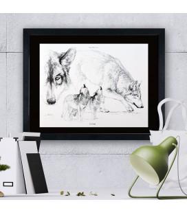 """Image """"Le loup """" - collection Les animaux de notre région"""