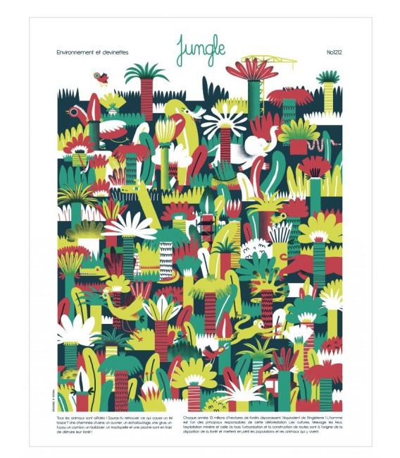 """Affiche """"Jungle"""""""