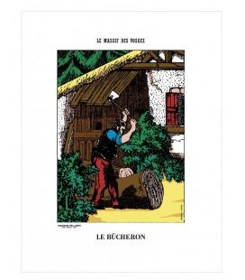 """Image """"Le bûcheron"""" - collection Le massif des Vosges"""