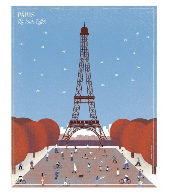 """Affiche """"La tour Eiffel"""""""