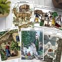 Lot de 5 cartes postales collection Le massif des Vosges