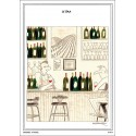 "Carte postale ""Le Bar"" collection IN VINO VERITAS par Zoé Thouron"