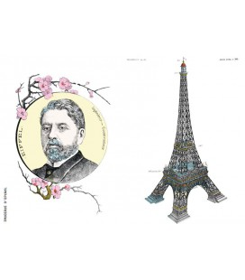 "Carte double ""Gustave Eiffel"""