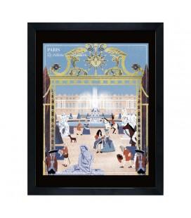 """Affiche """"Le château de Versailles"""""""