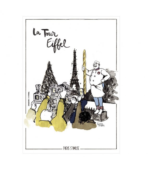"""Carte postale """" La tour Eiffel"""""""