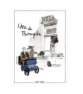 "Carte postale "" L'arc de triomphe"" - collection Paris s'amuse"