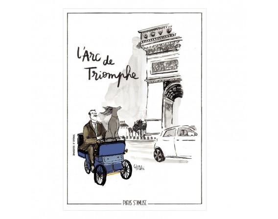 """Carte postale """" L'arc de triomphe"""""""