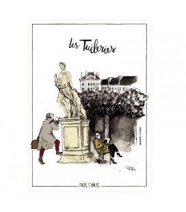 "Carte postale "" Les tuileries"" - collection Paris s'amuse"