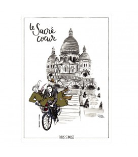"Carte postale "" Le sacré coeur"" - collection Paris s'amuse"