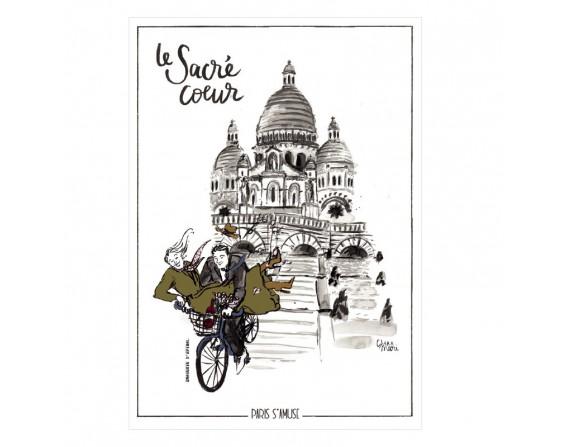 """Carte postale """" Le sacré coeur"""""""