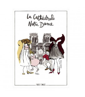 """Carte postale """" La cathédrale Notre Dame"""" coll. Paris s'amuse"""