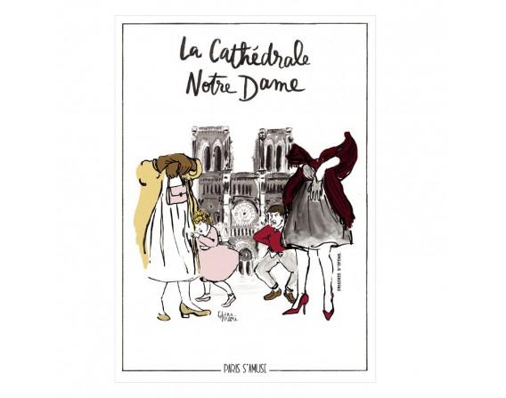 """Carte postale """" La cathédrale Notre Dame"""""""