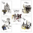 Lot de 5 cartes postales collection Paris s'amuse