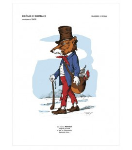 "Image ""Le renard"" - collection Drôles d'animaux"