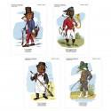 """Lot de 4 cartes postales - collection """"Drôles d'animaux"""""""