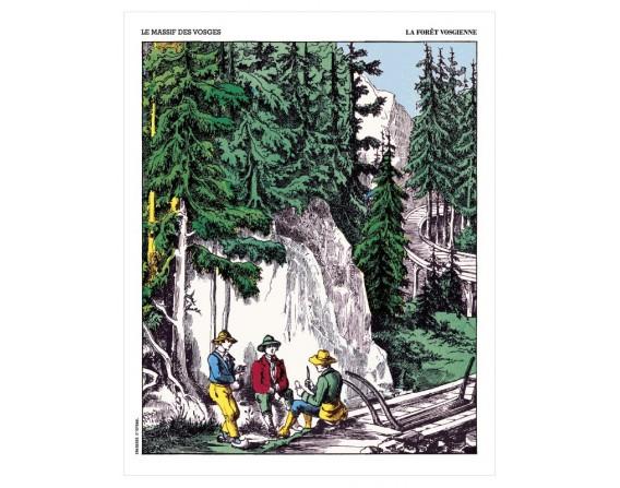 """Affiche """"La forêt vosgienne"""""""