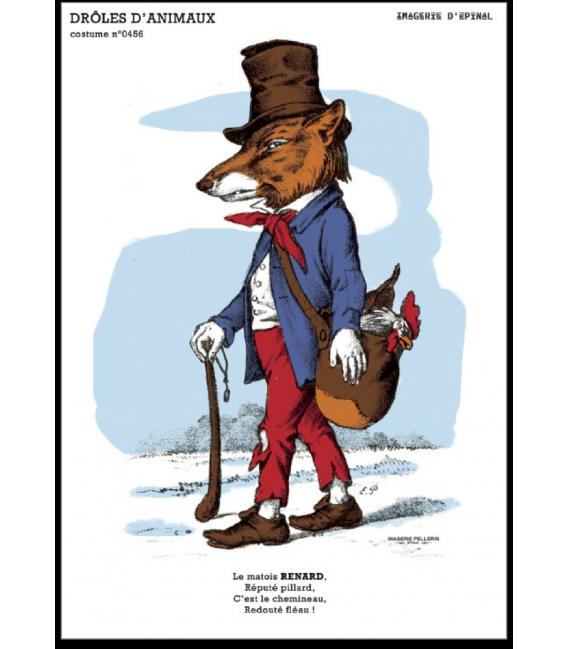 """Carte postale """" Renard"""" - collection drôles d'animaux"""