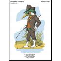 """Carte postale """" Martin pêcheur"""" - collection drôles d'animaux"""