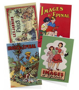 Lot de 4 cartes doubles IMAGES D'EPINAL
