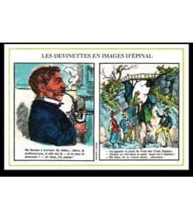 "Carte postale ""Devinettes"" vert"