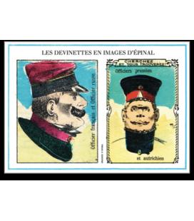 "Carte postale ""Devinettes bleu"""