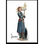"Carte postale ""Jeanne d'Arc debout"""