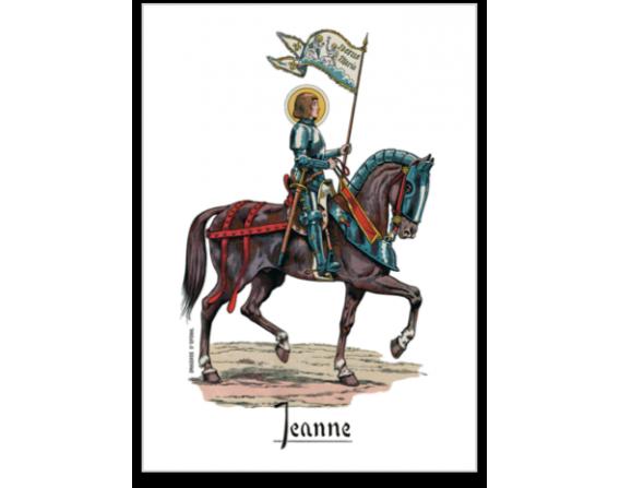 """Carte postale """"Jeanne d'Arc à cheval"""""""