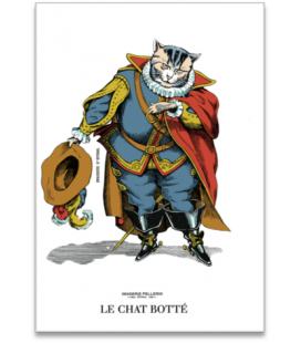 "Carte postale ""Chat botté"""