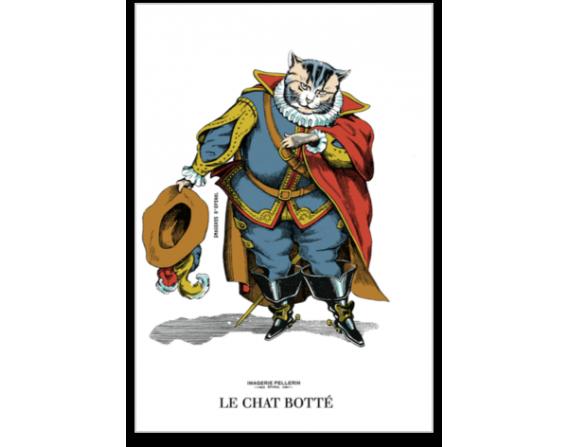 """Carte postale """"Chat botté"""""""