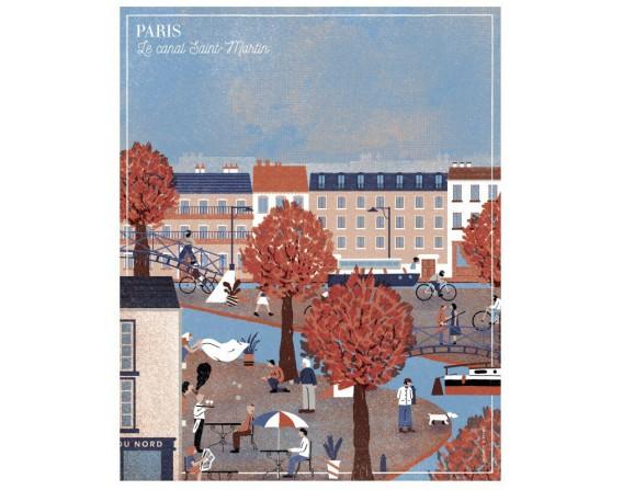 """Affiche """"Le canal Saint Martin"""""""