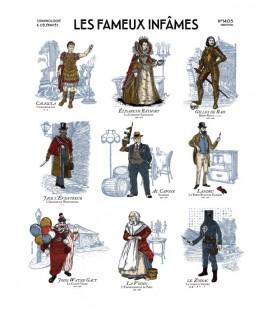 Chromolithographie LES FAMEUX INFAMES