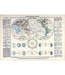 """Image """"Le globe artificiel ou la mappemonde"""""""
