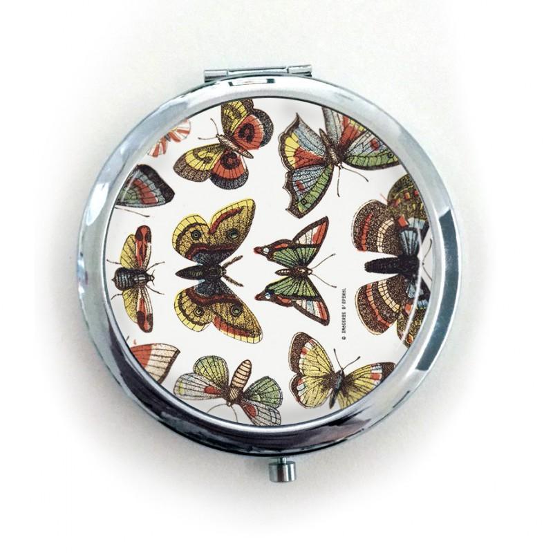 Miroir de poche papillons maison images d 39 pinal for Miroir de poche ancien