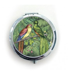 "Miroir de poche ""Oiseaux étrangers"""